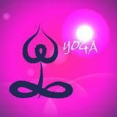 Vector: Yoga and spa lotus abstract icon,sitting — ストックベクタ