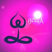 Vector: Yoga and spa lotus abstract icon,sitting — Vector de stock