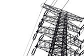 Close-up Power Transmission Tower — Stock Photo