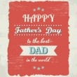 Stock Vector: Father's Day Card