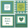 Stockvektor : Father's Day Cards Set