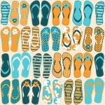 Flip-flops Background — Stock Vector