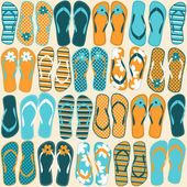 Flip-flops Background — Stok Vektör