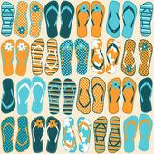 Fundo de flip-flops — Vetorial Stock