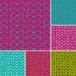Sunglasses Patterns Set — Stock Vector
