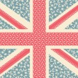 Floral Union Jack — Stock vektor