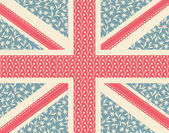 Floral Union Jack — Vecteur