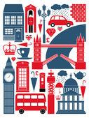伦敦的符号集合 — 图库矢量图片