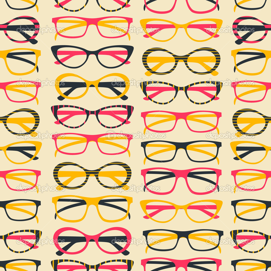 Seamless pattern with colorful sunglasses. — Stock Vector #11873340