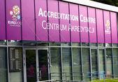 Accreditation Center. Euro 2012 — Stock Photo