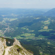 Stock Photo: View to valley from Rax mountains