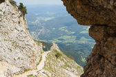 View to valley from Rax mountains — Stock Photo