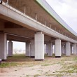 Under the highway. Urban scene — Stock Photo