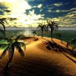 Hawaiian sunset in tropical paradise — Stock Photo #11988514