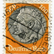 GERMANY - CIRCA 1933: A 100pf stamp printed in Germany  of Pres - Stock Photo