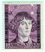GERMANY - CIRCA 1943: A stamp printed in Nazi Germany of Polish — Stock Photo