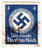GERMANY - CIRCA 1937: A stamp printed in Germany showing swastik — Stock Photo