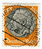GERMANY - CIRCA 1933: A 100pf stamp printed in Germany  of Pres — Stock Photo
