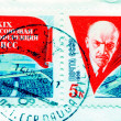 Lenin on Russian stamp — 图库照片