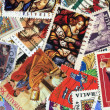 Collection of various Christian postage stamps — Stock Photo