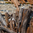 Stock Photo: Steel rods or bars used to reinforce concrete.