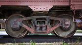 Train boxcar wheel — Stock Photo