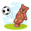 Bear Footballer — Stock Vector