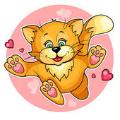 Valentine cat — Stock Vector