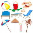 Vacation and travel icons — Stock Vector #10976043