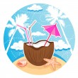 Royalty-Free Stock Vector Image: Coconut cocktail