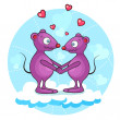 Valentine mouse — Stock Vector