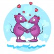 Stock Vector: Valentine mouse