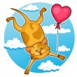 Royalty-Free Stock Vectorielle: Cute valentine cat