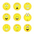 Stock Vector: Set of smileys