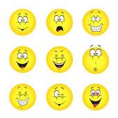 Conjunto de smileys — Vetorial Stock