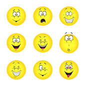 Set of smileys — Stockvektor