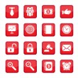 Business set icons — Stock Vector