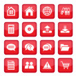 Office set icons — Stock Vector