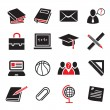 Education icon set — Stock Vector #12078072