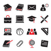 Education icon set — Wektor stockowy