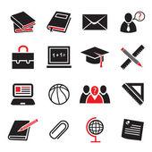 Set di icone di educazione — Vettoriale Stock