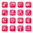 Vettoriale Stock : Communication icons