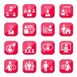 Stock Vector: Human resources icons