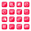 Online shopping icon set - Stock Vector