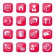 Help and support icons — Stock Vector #12360364