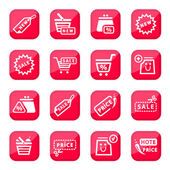 Online shopping icon set — Stock Vector