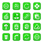 Conjunto de iconos del medio ambiente — Vector de stock