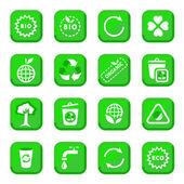 Miljömässiga ikonuppsättning — Stockvektor