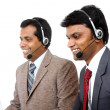 Indian young people working in call center — Stock Photo