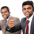 Stock Photo: Indiyoung people working in call center